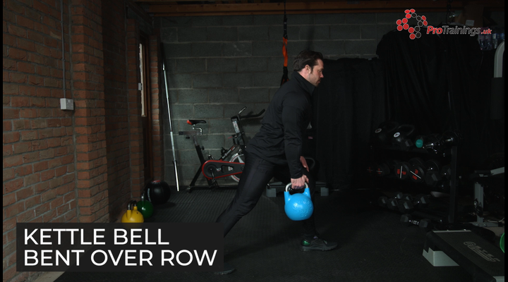 Kettle bell bent over row