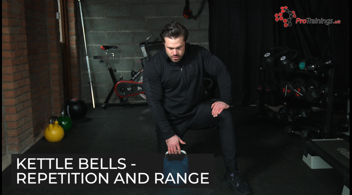 Kettle bell repetition and range