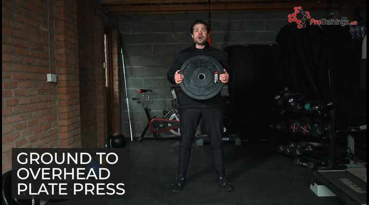 Weight plate - Ground to overhead plate press