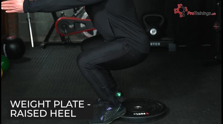Weight plate - Raised heel