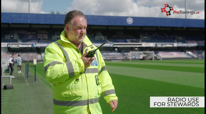 How are radios used by stewards?