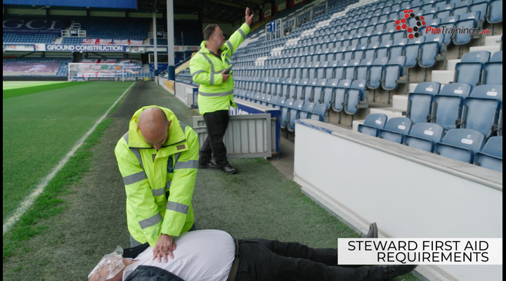 What are the first aid requirements of a steward?