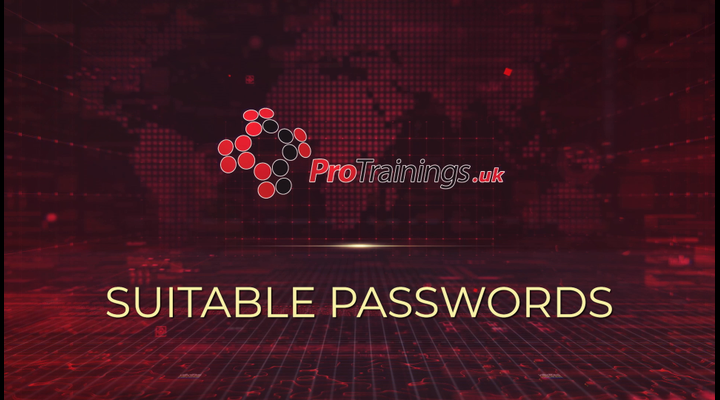 Suitable passwords