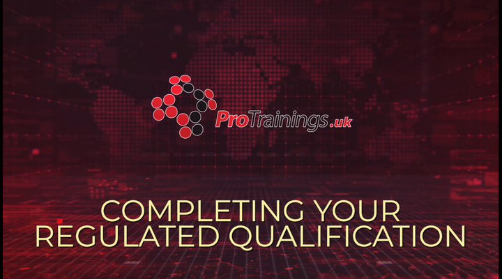 Completing your regulated qualification
