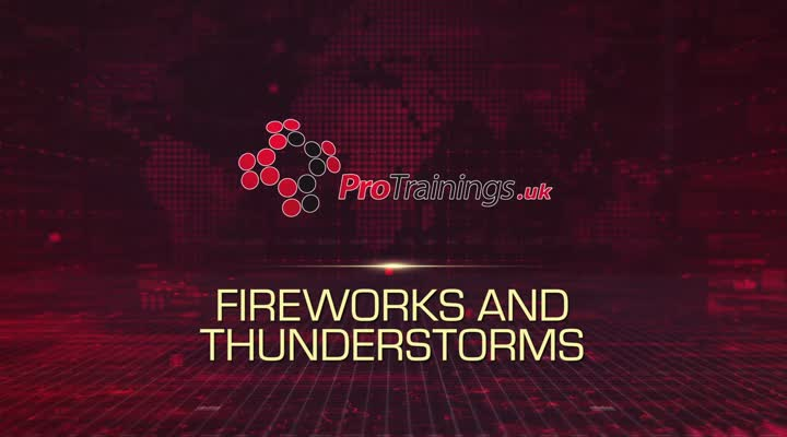 Fireworks and thunderstorms
